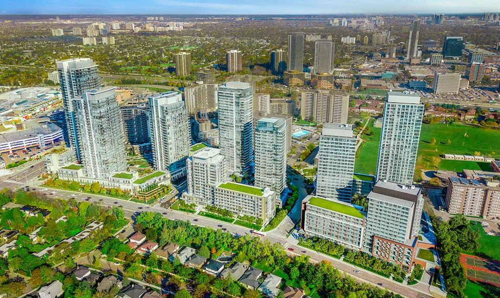 Masterplan of The Emerald City Condos Community in Toronto