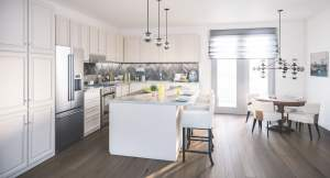 Rendering of summerside towns at oak bay kitchen interior