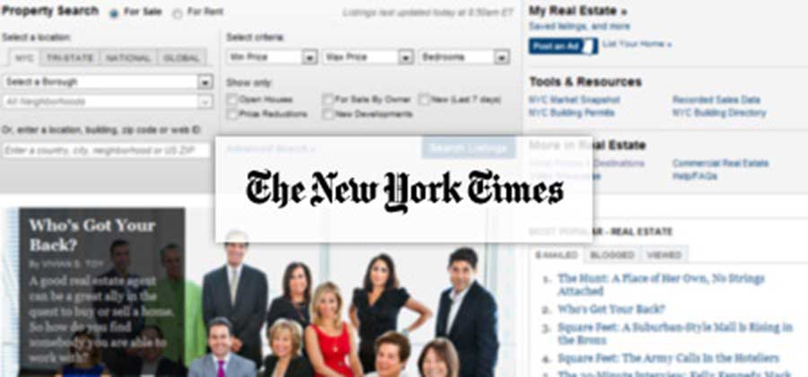 The New York Times and Sothebys website
