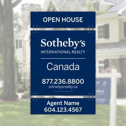 Signage - Sothebys International Realty Canada Extraordinary Real Estate Marketing
