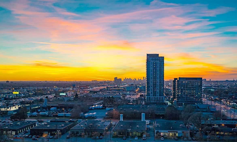 Aerial view of IQ Condos Toronto