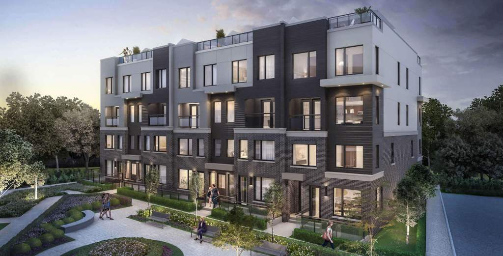 Rendering of The Way Towns building exterior - front facing.