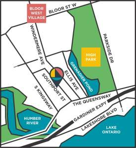 Key map of Southport in Swansea Toronto
