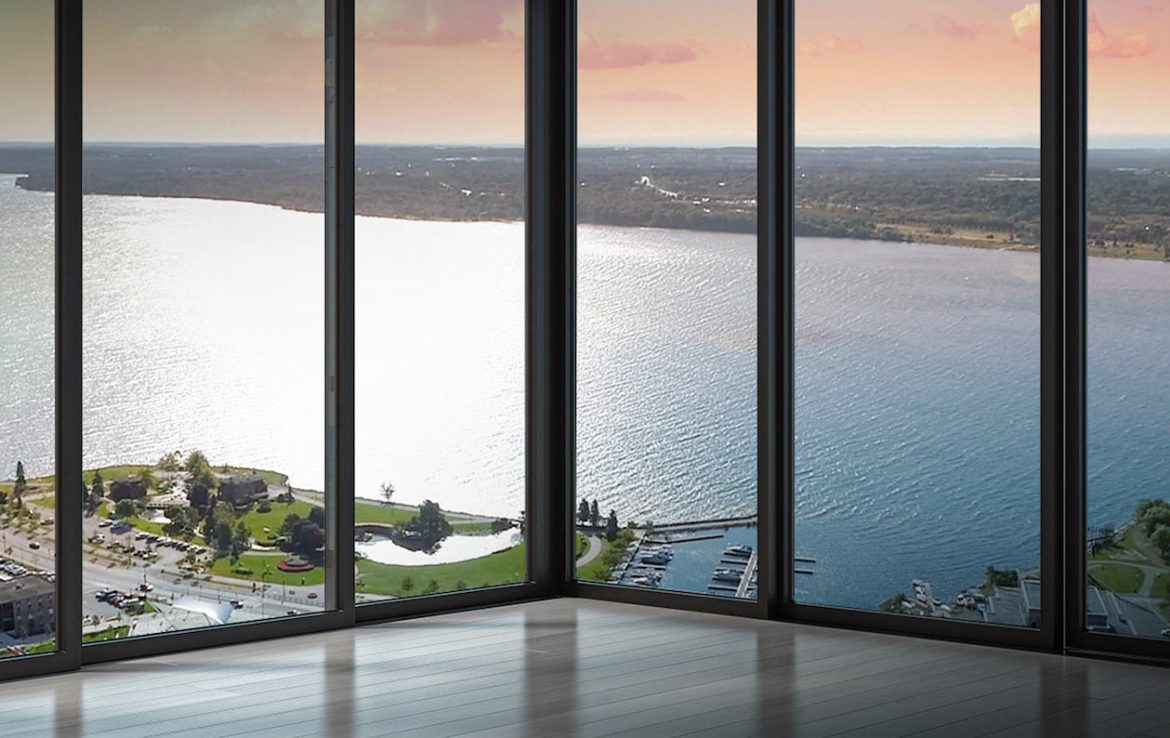 Rendering of a Suite View in the Residence at Five Points Condos