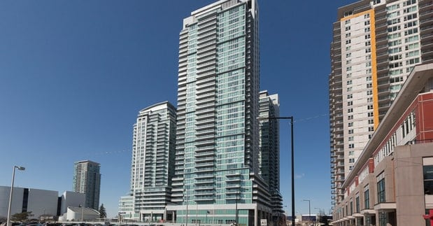 Exterior image of the Encore at Equinox in Toronto