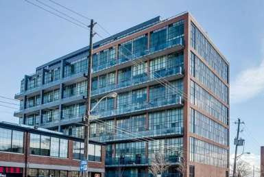 Exterior image of the Liberty Market Lofts in Toronto