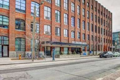 Exterior image of the Toy Factory Lofts in Toronto