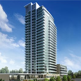 Rendering of Dream Tower at Emerald City Condos exterior