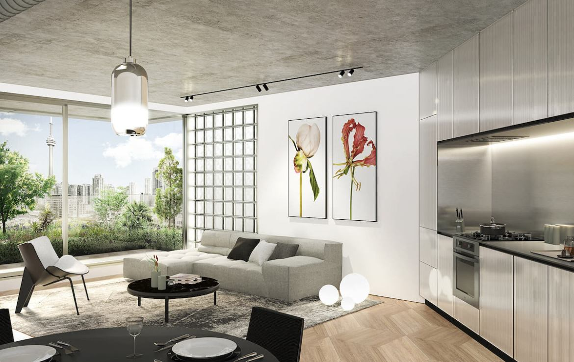 Big King West Residential Unit Living Area