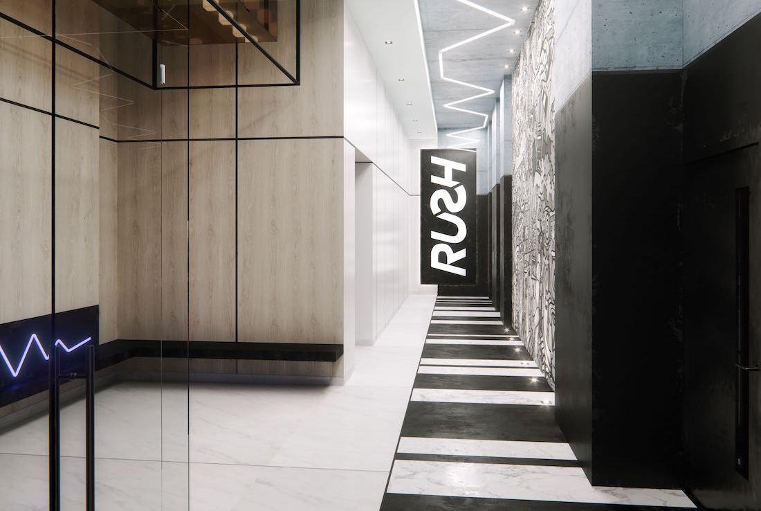 RUSH Condos lobby