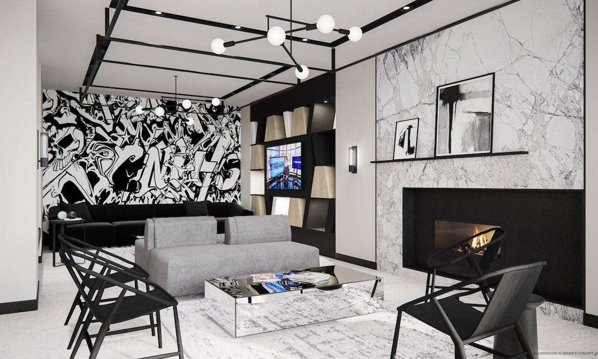 RUSH Condos party room