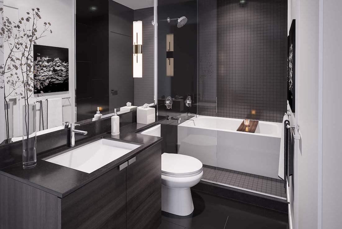 Gallery Condos and Lofts Bathroom Rendering