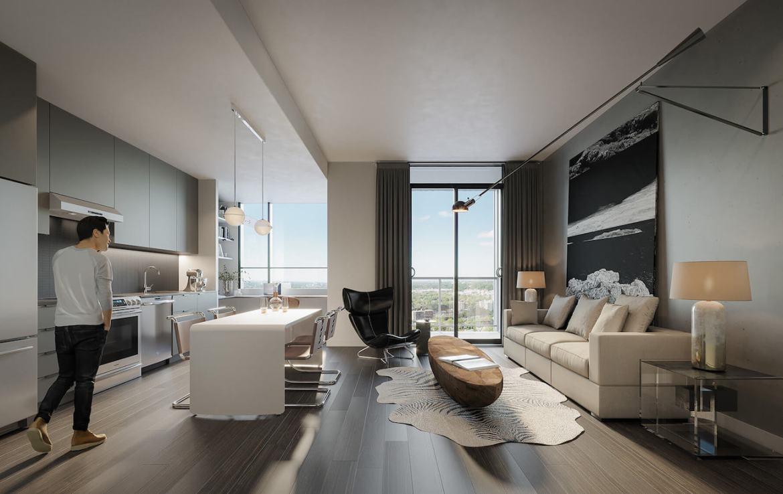 Rendering of Gallery Condos and Lofts Loft Interior