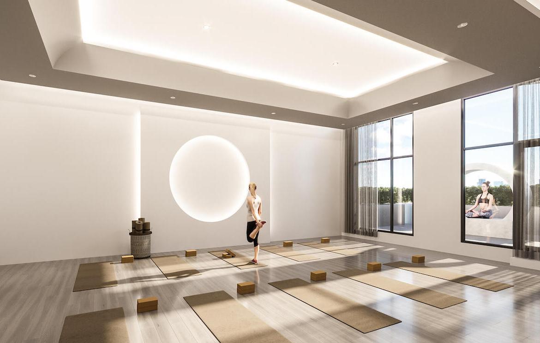 Rendering of Gallery Condos and Lofts Yoga Studio