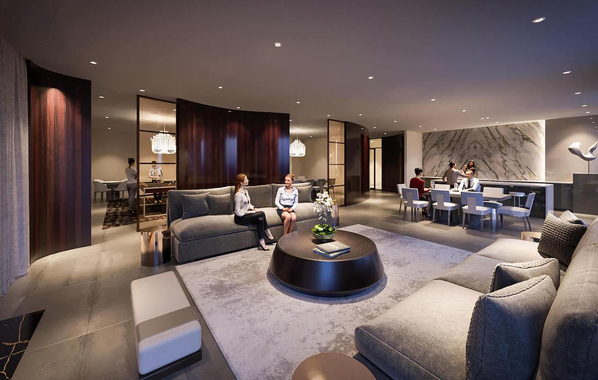 Rendering of Gallery Condos and Lofts Party Room