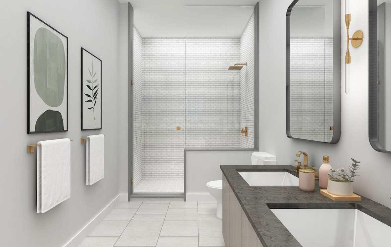 NuTowns Interior Rendering of Bathroom