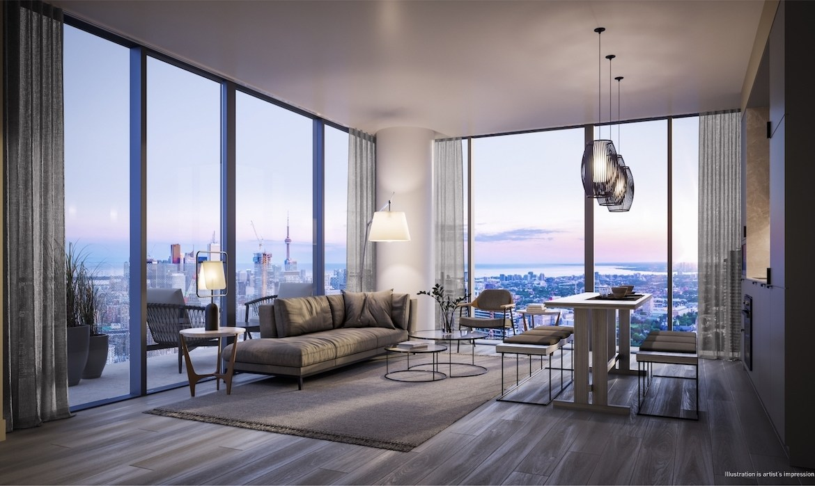 Rendering of 55C Bloor Yorkville Residences Suite