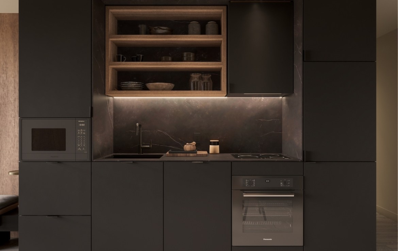 Rendering of 55C Bloor Yorkville Residences Kitchen
