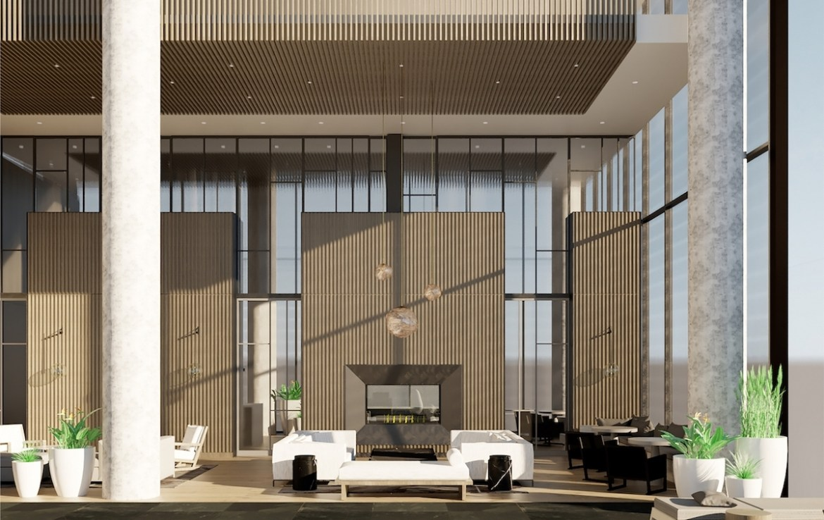 Rendering of 55C Bloor Yorkville Residences Party Room
