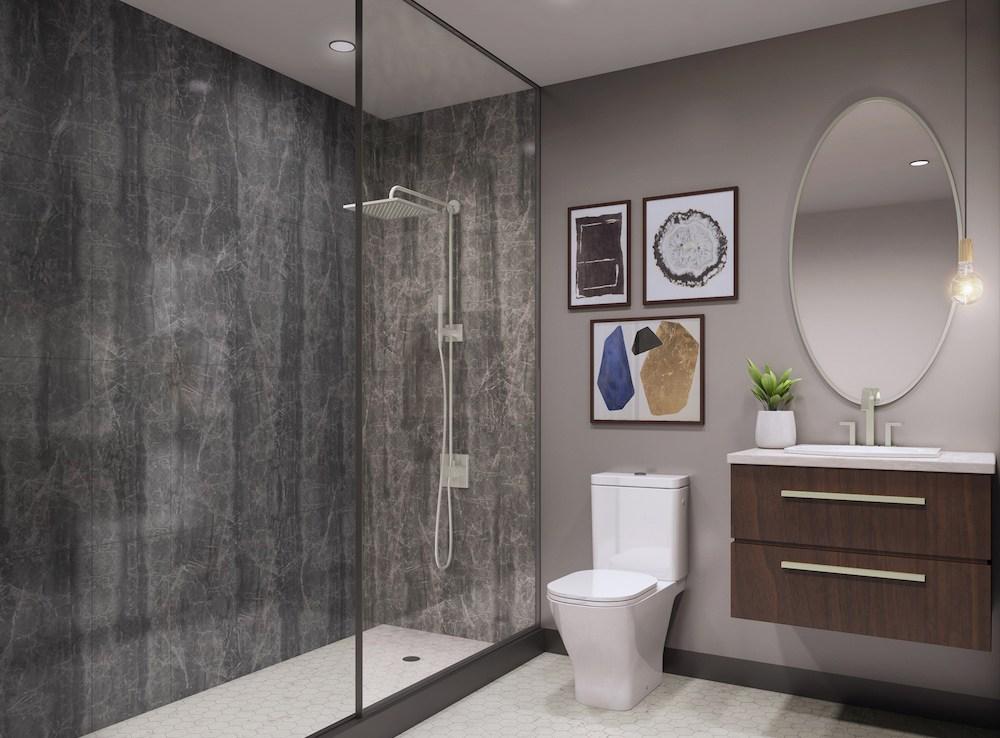 430 ESSA Condos Bathroom
