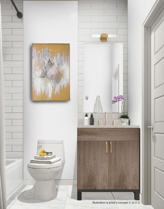 The Clarkson Urban Towns Suite Bathroom Interior
