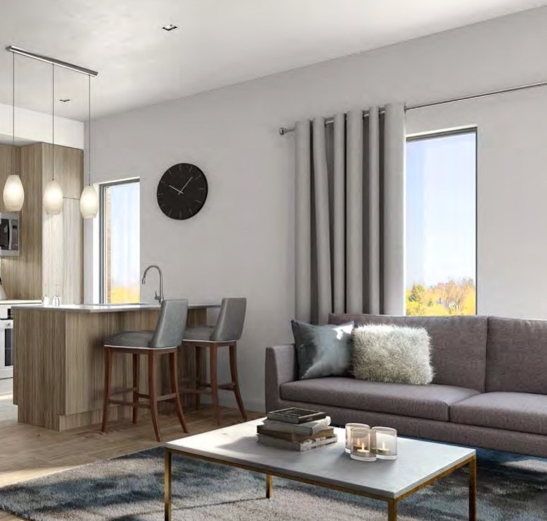 Rendering of 4Hundred East Mall Townhomes Living