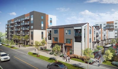 Exterior Rendering of Daniels FirstHome™ Markham Sheppard Condos and Towns