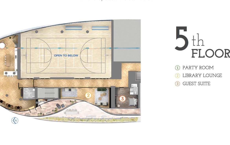 Parc Towns 5th Floor Amenities Diagram
