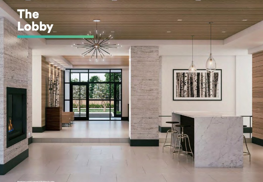 Rendering of Affinity Condos Lobby