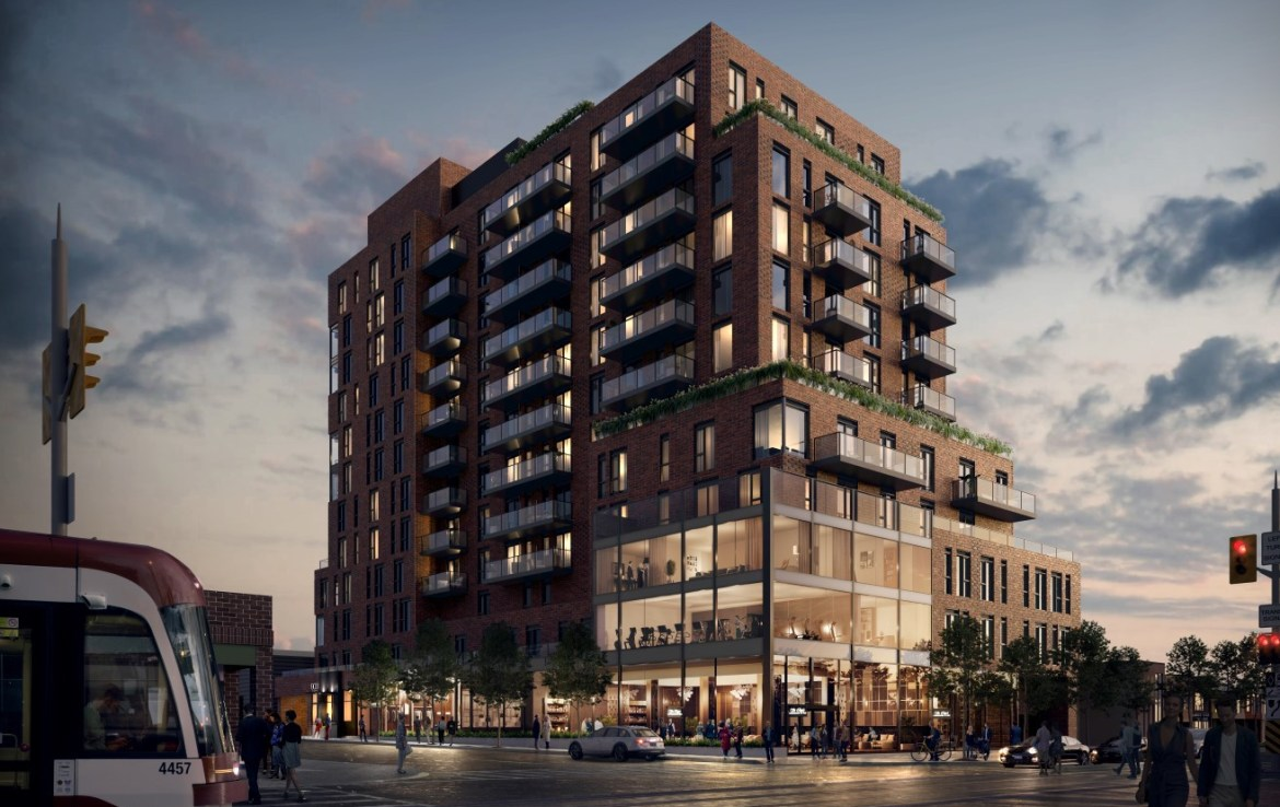Exterior Rendering of St. Clair Village Condos