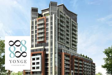 Exterior Rendering of 8888 Yonge Street Condos