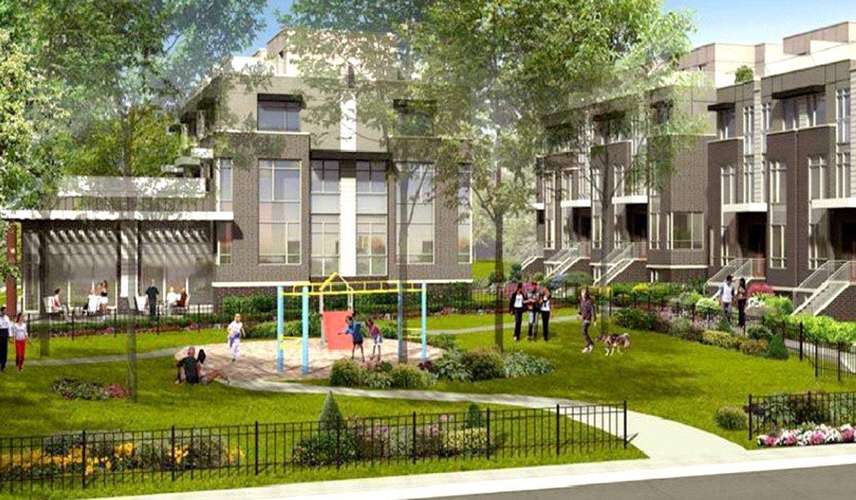 Exterior Park Rendering of Maxx Urban Towns