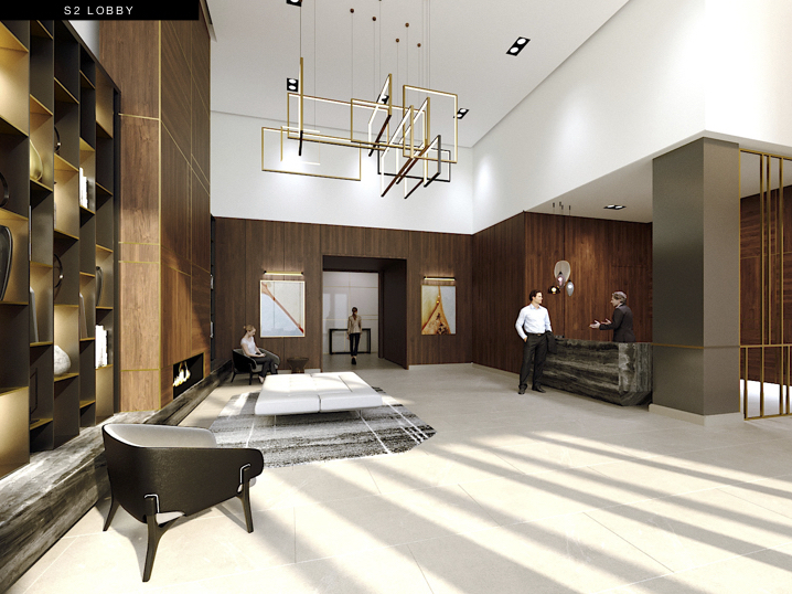 S2 at Stonebrook Lobby Rendering