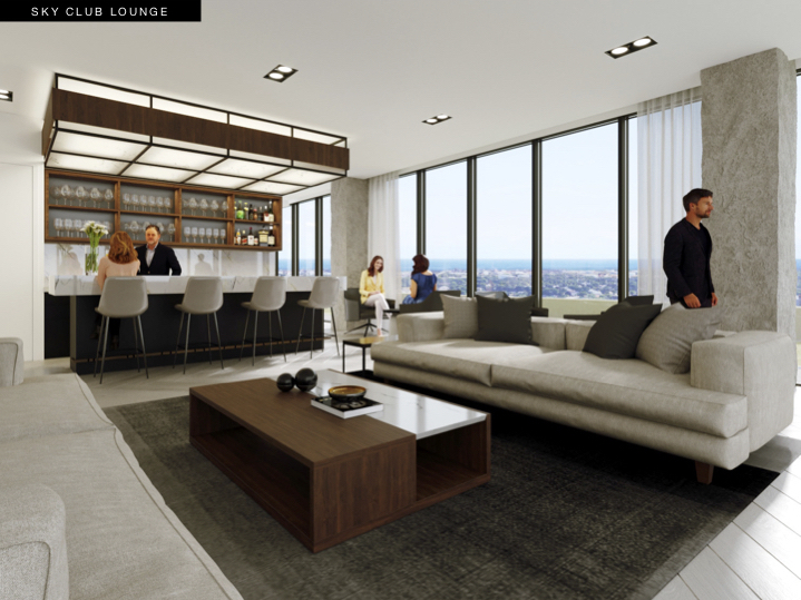 S2 at Stonebrook Sky Club Lounge Rendering
