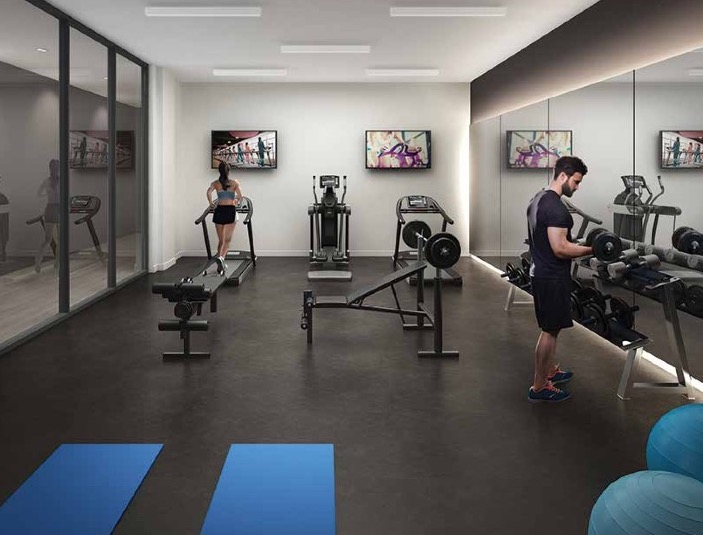 Gym Rendering of Terrasse Condos at the Hunt Club