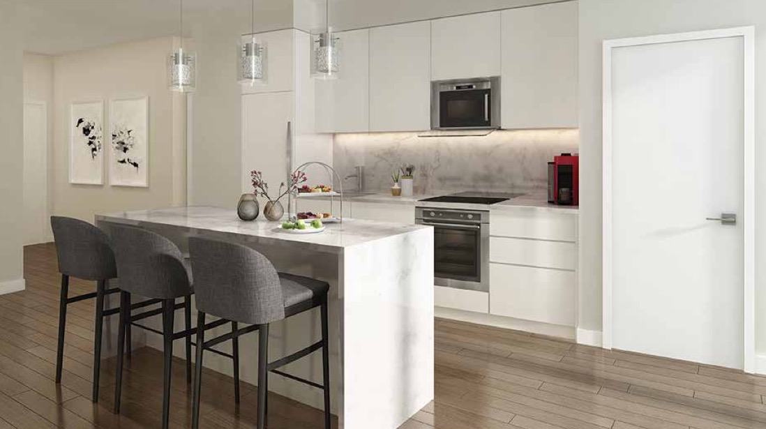 Suite Kitchen Rendering of Terrasse Condos at the Hunt Club