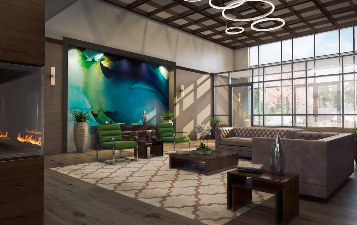 Lobby Rendering of Trend Living Condos