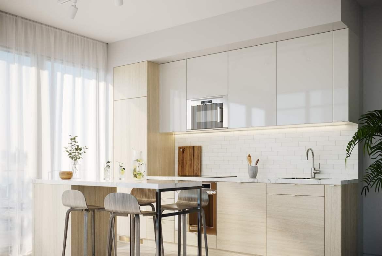 Brightwater Condos suite kitchen
