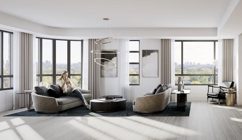 Rendering of Empire Maven Condos Interior Suite Living Room