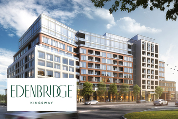 Exterior Rendering of Edenbridge Kingsway Condos