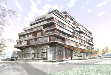 Exterior Rendering of Kingsway Crescent Condos