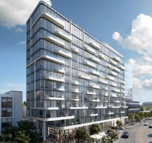 Exterior rendering of Anx on Dupont Condos during the day.