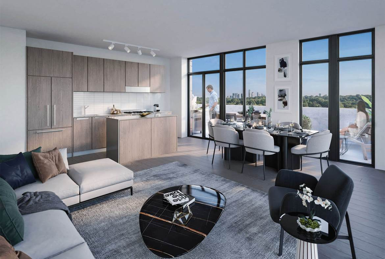 Rendering of Kingsway Crescent Condos suite interior.