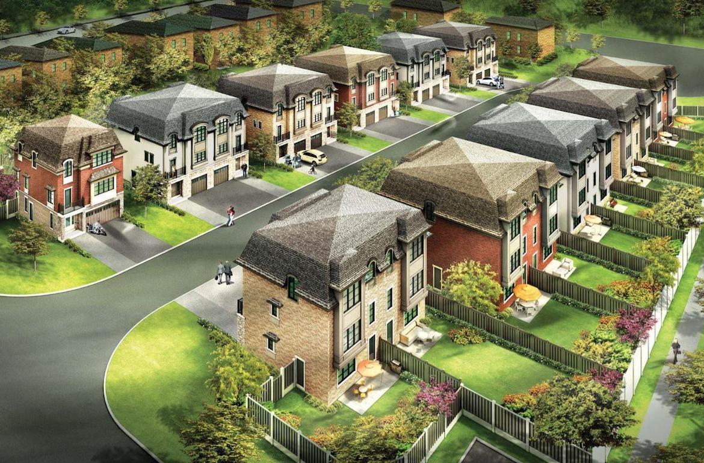 Exterior Rendering of Meadowvale Lane Homes