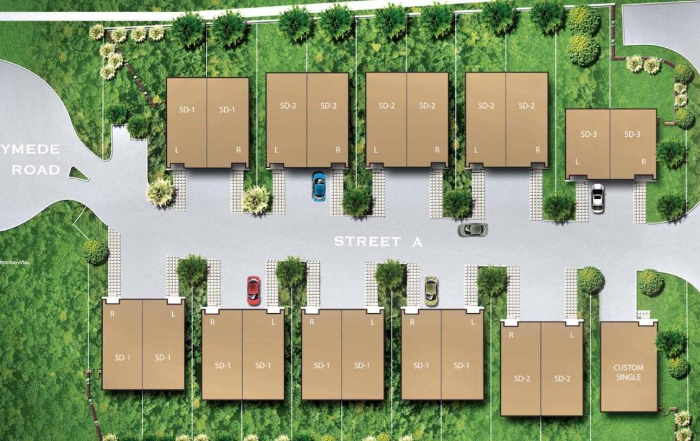 Site Plan of Meadowvale Lane Homes