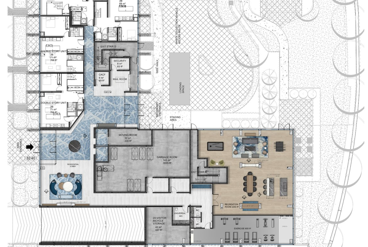 Amenities Map of Rise at Stride Condos