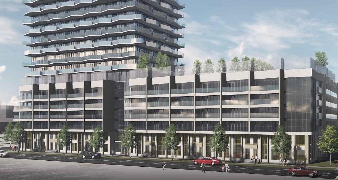 Street-View Rendering of Thirty Six Zorra Condos