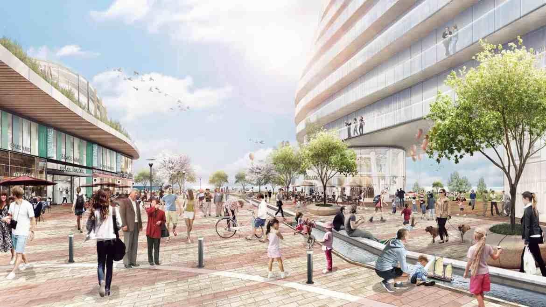 Rendering of Brightwater Community Port Credit Courtyard