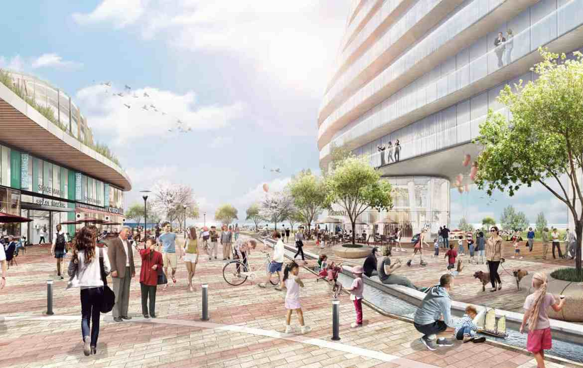 Rendering of West Village Port Credit Courtyard
