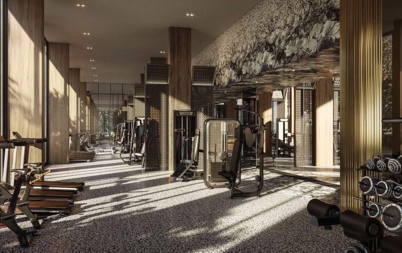 Gym rendering of Distrikt Trailside condos.